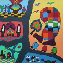 Michael JANSEN - Pintura - Fenster zum Horizont der inneren Momente