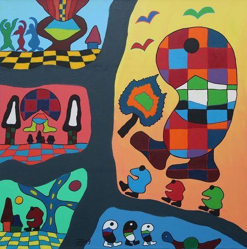 Michael JANSEN - Painting - Fenster zum Horizont der inneren Momente