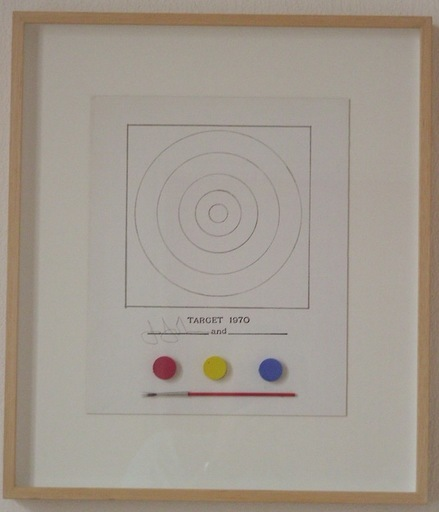 Jasper JOHNS - Sculpture-Volume - target, 1970
