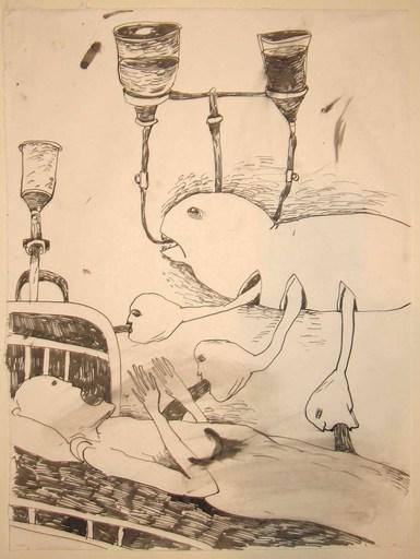 Foma JAREMTSCHUK - Zeichnung Aquarell - Untitelt