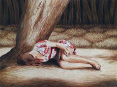 Erlend STEINER LOVISA - Painting - Anne-Margot 5    (Cat N° 6340)
