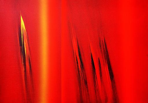 Ennio FINZI - Gemälde - Partitura (Da Bach)