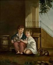 保罗•塞尚 - 绘画 - Les Deux Enfants