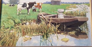 Lucas KUYS - Pintura - La traite des vaches en hollande