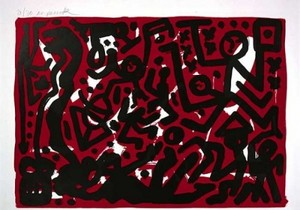 A.R. PENCK - Estampe-Multiple - Lausanne 2 Aber Hallo