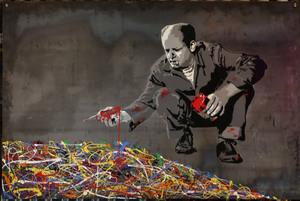 MR BRAINWASH - Pittura - Jackson Pollock (on Steel Panel)