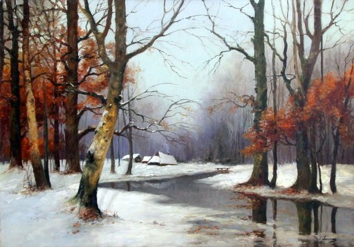 Savely Abramovich SORINE - Painting - Winter Landscape