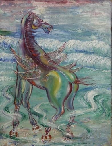 Carlos ENRIQUEZ GOMEZ - Pintura - Caballo Alado