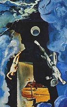 Salvador DALI - Zeichnung Aquarell - The Tower