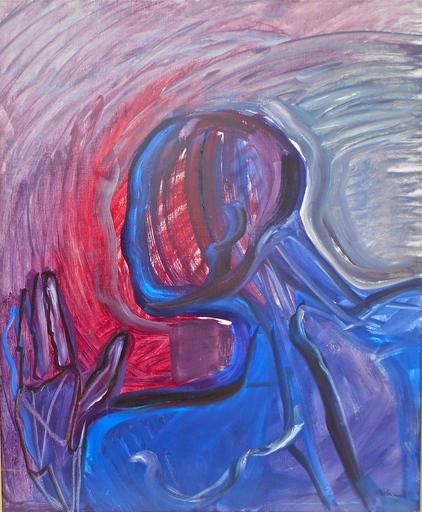 Rosemonde KRBEC - Painting - L' amant.