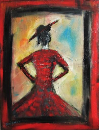 Didier DOIGNON - Pintura - Femme au chapeau