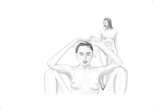 Mario SUGHI - Stampa-Multiplo - Black and white Interior