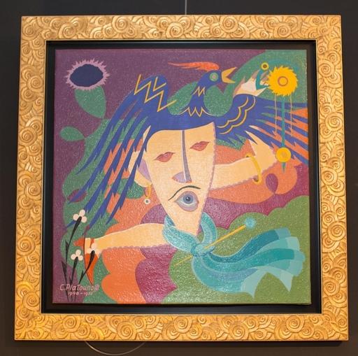 Constantin PLATOUNOFF - Pintura - Composition Surealiste Maçonnique
