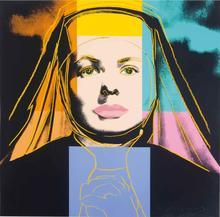 Andy WARHOL - Estampe-Multiple - The Nun from Ingrid Bergman