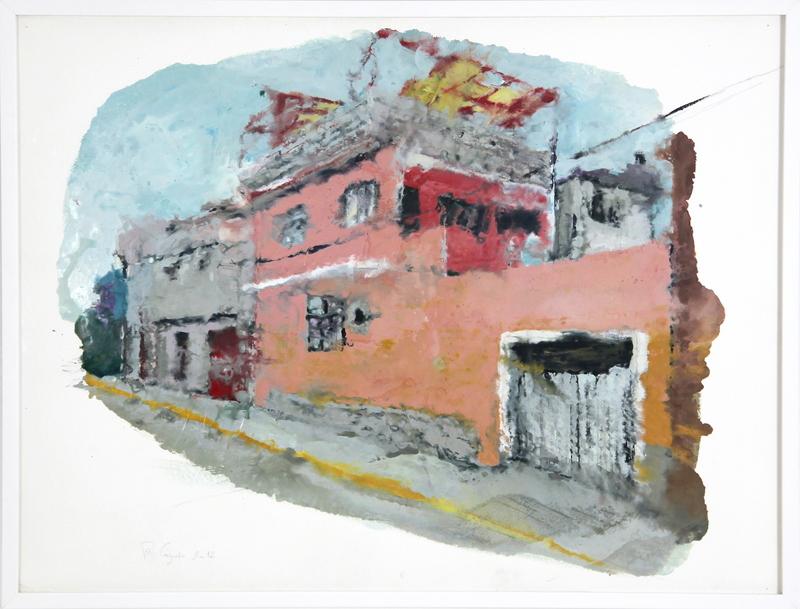 Philippe COGNÉE - Painting - Mexico, Façade rose