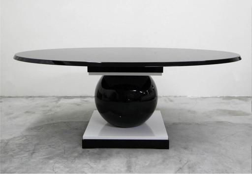 Jacques-Henri LARTIGUE - TABLE ECART EN RESINE ET BOIS LAQUE NOIR