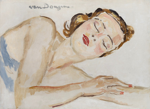 Kees VAN DONGEN - Pintura - Dreaming of love