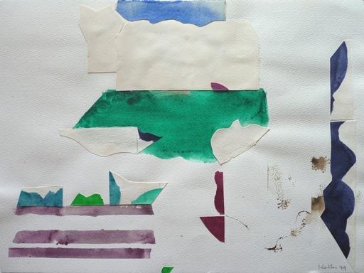 Paul KALLOS - Zeichnung Aquarell