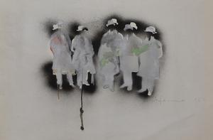 Mario SCHIFANO - Drawing-Watercolor - The Futurists | I Futuristi