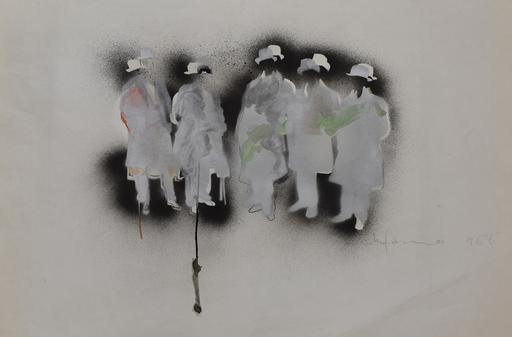 Mario SCHIFANO - Dibujo Acuarela - The Futurists | I Futuristi