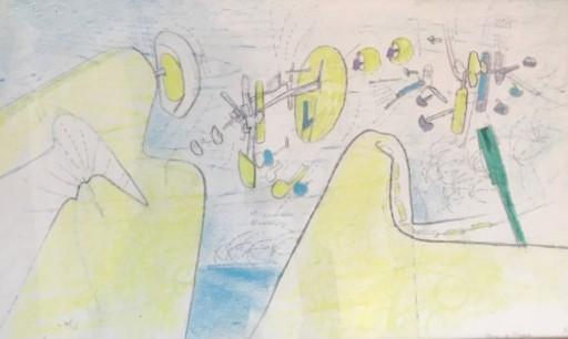 Roberto MATTA - Disegno Acquarello - Space de l'espace
