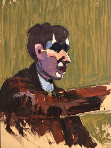 Maurice LE SCOUÉZEC - Pintura - Portrait du peintre Isaac Dobrinsky