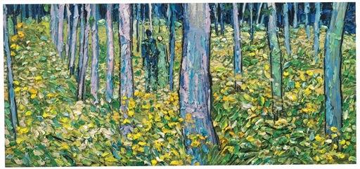 Stefano ARIENTI - Gemälde - Figure in un bosco