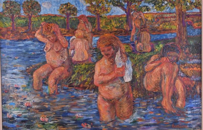 David BURLIUK - Gemälde - The Bathers