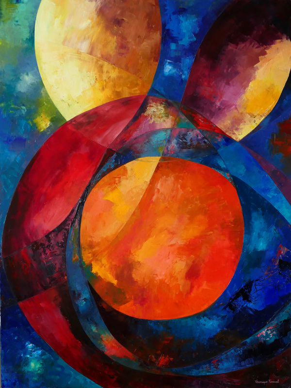 Véronique FARAVEL - Painting - Instinct