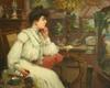 Maurice CHABAS - Peinture - L'Élegante dans l'Atelier