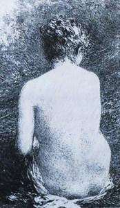 Henri-Théodore FANTIN-LATOUR, « Etude de femme assise, vue de dos »