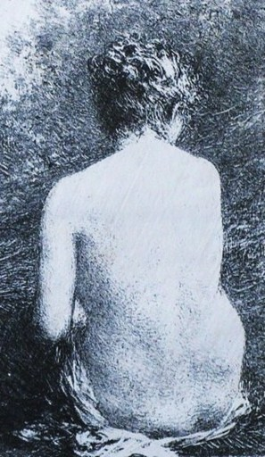 Henri-Théodore FANTIN-LATOUR - Print-Multiple - « Etude de femme assise, vue de dos »