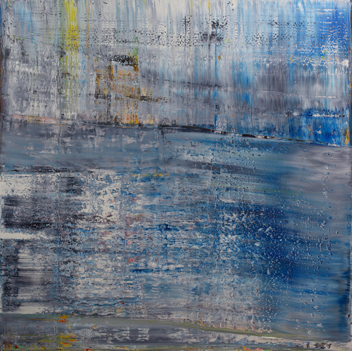 Harry James MOODY - Peinture - Abstract with Blue No.466