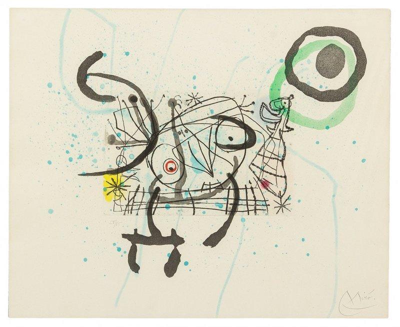 Joan MIRO - Print-Multiple - FISSURES PLATE IX