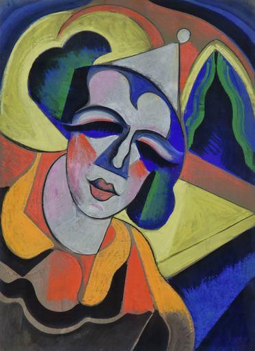 Hugo SCHEIBER - Drawing-Watercolor - Clown