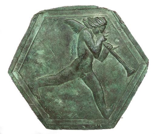 Marino MARINI - Escultura - PUTTO FORMELLA