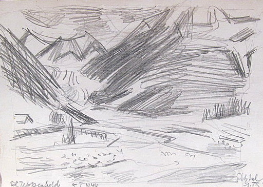 Erich HARTMANN - Drawing-Watercolor - Pitztal