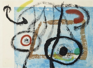 Joan MIRO - Print-Multiple - L'Oiseau de nuit (L'oiseau s'envole)