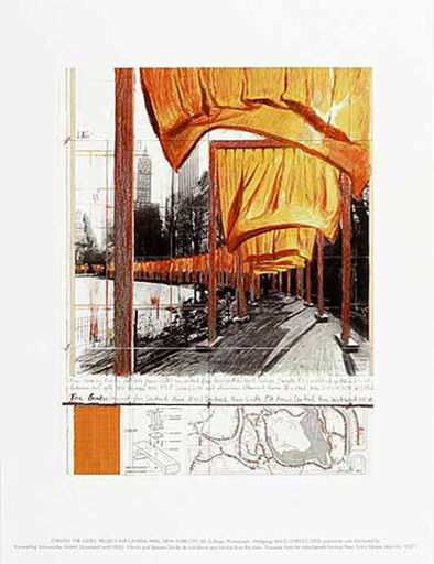 CHRISTO - Estampe-Multiple - The Gates, (n)