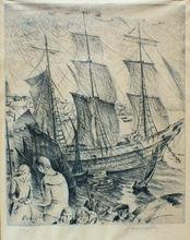 Adolphe Marie BEAUFRERE - Print-Multiple - l'Adieu du marin