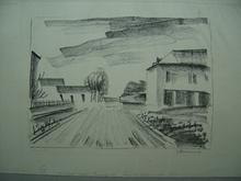 Maurice DE VLAMINCK (1876-1958) - Entrée de Village