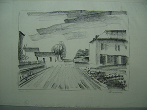 Maurice DE VLAMINCK - Stampa Multiplo - Entrée de Village