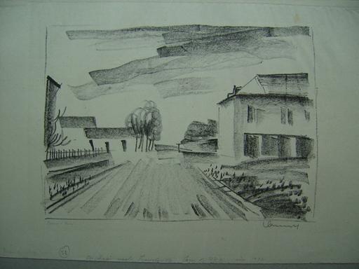 Maurice DE VLAMINCK - Estampe-Multiple - Entrée de Village