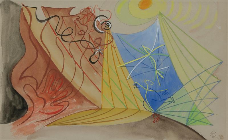 Léopold SURVAGE - Drawing-Watercolor - Les Voiles