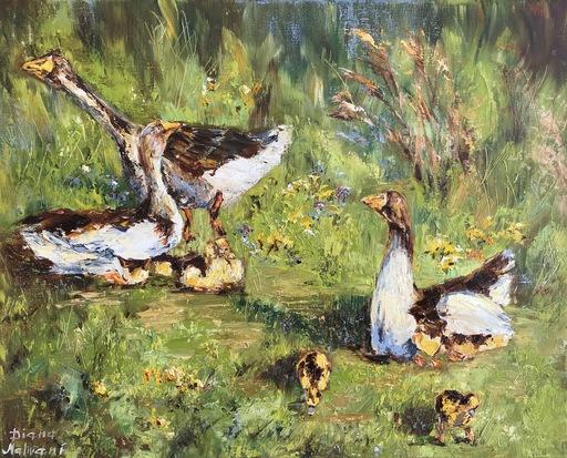Diana MALIVANI - Gemälde - Geese