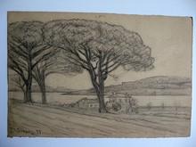 Auguste Victor FABRE - Drawing-Watercolor - SAINT TROPEZ