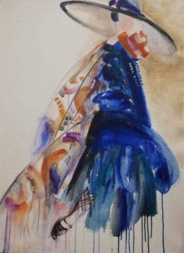 "Irina BELOPUKHOVA - Painting - ""Fashionista"" Young mysterious woman"