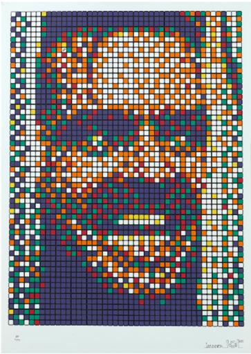 INVADER - Grabado - Rubik Kubrick 2
