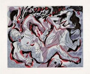 安德烈•马松 - 版画 - Pyramus und Thisbe