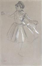 埃德加•德加 - 水彩作品 - Dancer - Melina Darde